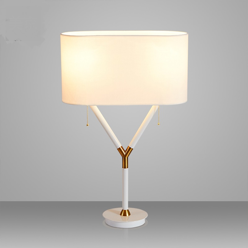 Nordic style table lamps living room study lamp bedroom bedside art simple fabric decorative desk lamps ZA781450