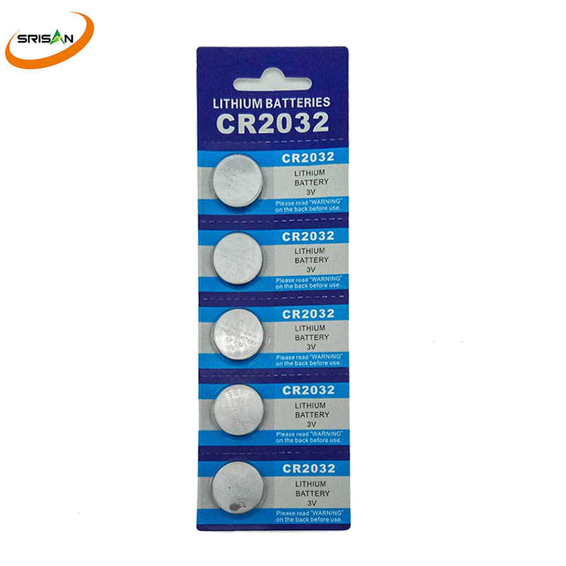 5x/card 5pcs 3V CR2032 Lithium Button Cell Battery BR2032 DL2032 ECR2032 CR2032 5004LC KCR2032 Coin Cell Batteries For Watch