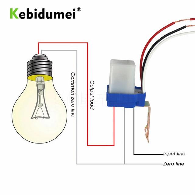 KEBIDU Sensor Schalter Fotozelle Straße Licht Switch Control Photo Automatische Auto On Off 110 v 220 v DC AC 12 v 50 60 hz 10A