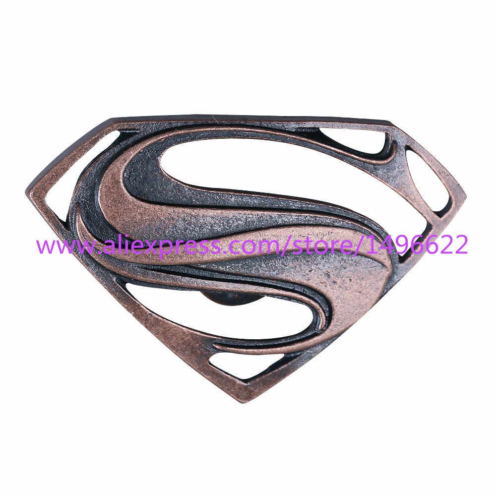 Justice League DC Superhero Badge Cosplay Superman Logo Pins Bros Logam Paduan Seng Halloween Party
