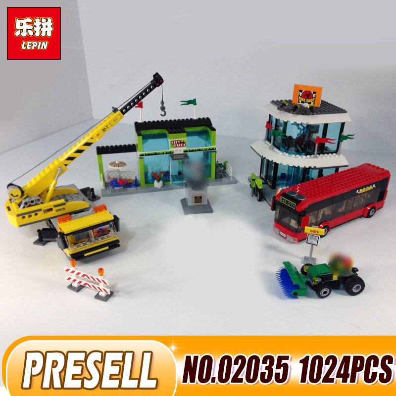 Lepin 02035 Toys 1024Pcs City Series legping 60026 Town Square Sets Building Blocks Bricks Educational Toys For Children Gifts