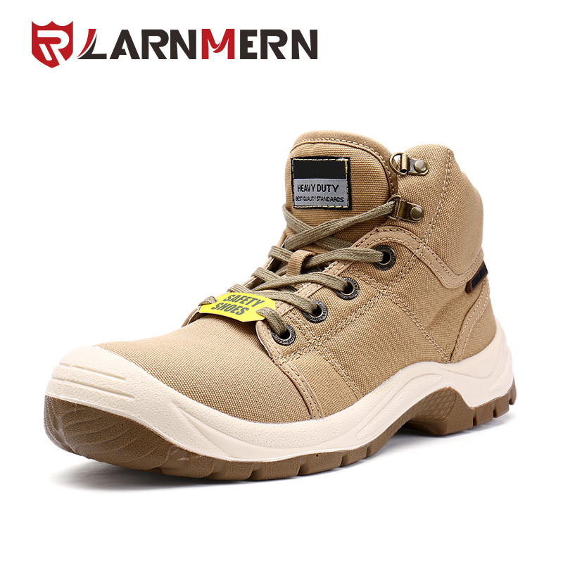 LARNMERN Men's DESERT Steel Toe Cap Work Safety Boots Fashion Comfortable Outdoor Protective Footwear sneaker