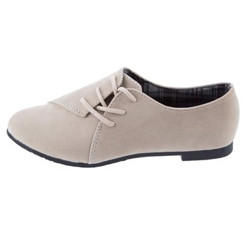 Elegrant Women Flats Shoes Lace Up Round Toe Suede Leather Women Casual Flat Sho