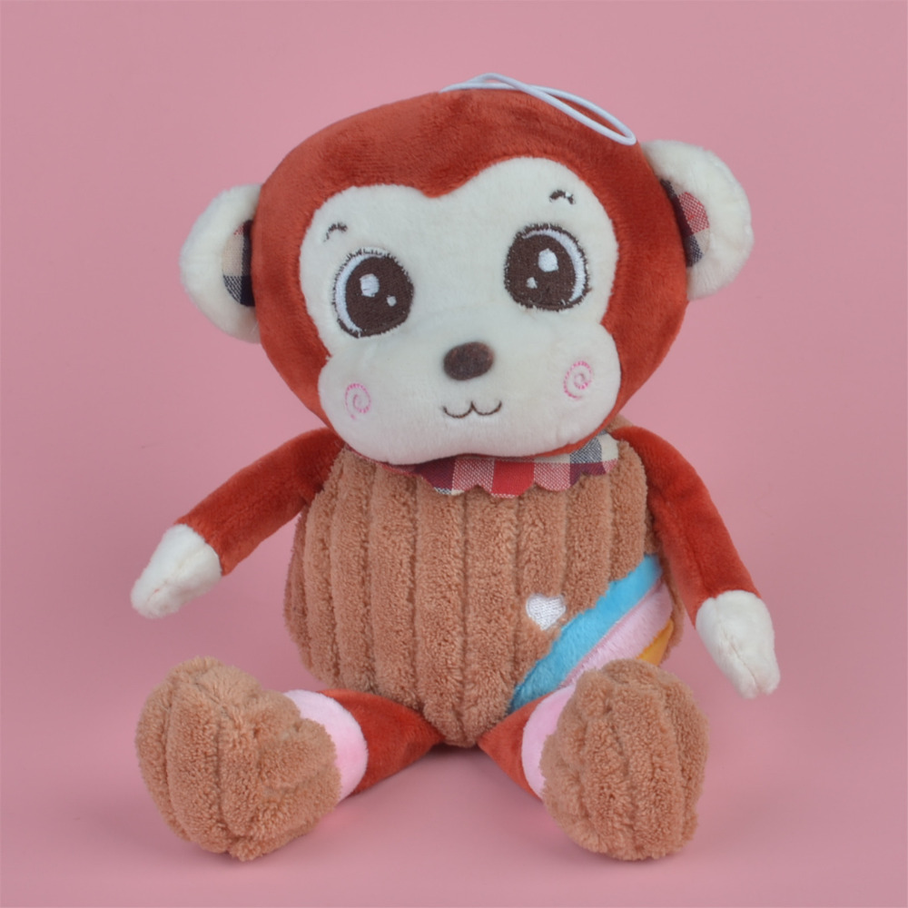 47cm Red Color Rainbow Monkey Plush Toy, Baby Gift Kids Toy Wholesale with Free Shipping