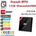 Francés H96 Pro + Bélgica Luxemburgo Países Bajos Europa IPTV IPTV IPTV Árabe S912 Octa Core 3G RAM 32G ROM Android 6.0 TV caja