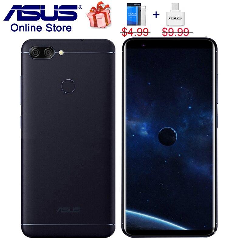 Asus ZenFone Max Plus M1 4G LTE téléphones portables 4 GB 64 GB Peg asus 4 s ZB570TL, zenUI 4.0, 5.7 pouces HD 18:9 Plein Écran Smartphones