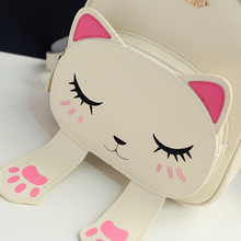 New Fashion Korean Style Women's Backpack Cute Kitten