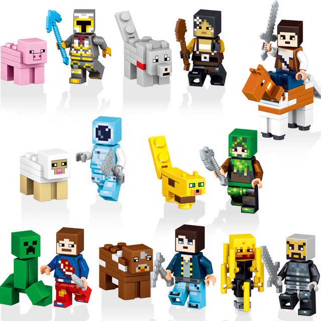2018 HOT Minecraft Mineral Mining Minifigure Building Blocks Sets Educational Toy for Children Compatible LegoING Christmas Gift 5