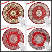 200*200*2 мм Печати Красный Персидский ковер Индивидуальные Non-Slip Резиновые 3D Печать Игровой Прочный Ноутбук круглый коврик для мыши