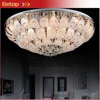 Лучшая цена современный K9 crystal light круглые светодиодные Потолочные светильники хрустальные светильники лампы павлин Спальня лампы украшен