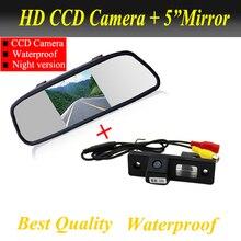 2 в 1 авто парковочная Системы для Chevrolet Cruze EPICA Lova Aveo Captiva Lacetti CCD вид сзади автомобиля Камера + 5 дюймов Автомобильное зеркало заднего вида