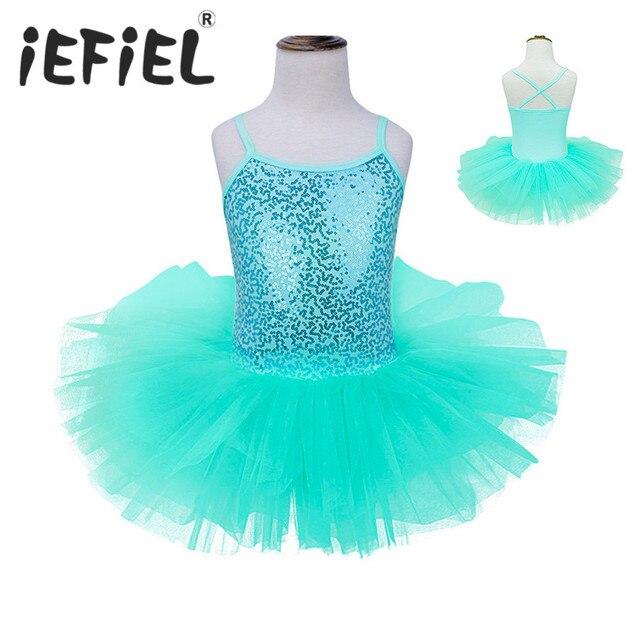 Enfants Filles Sans Manches Gymnastique Justaucorps De Ballet Tutu Robe De  Danse De Danse Vêtements Princesse f33bdba6265
