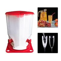 3 Grids Beer Wine Bucket Separated Rotating Drink Juice Beer Wine Bucket Barrel with Tap Faucet Home Party Bar Supplies