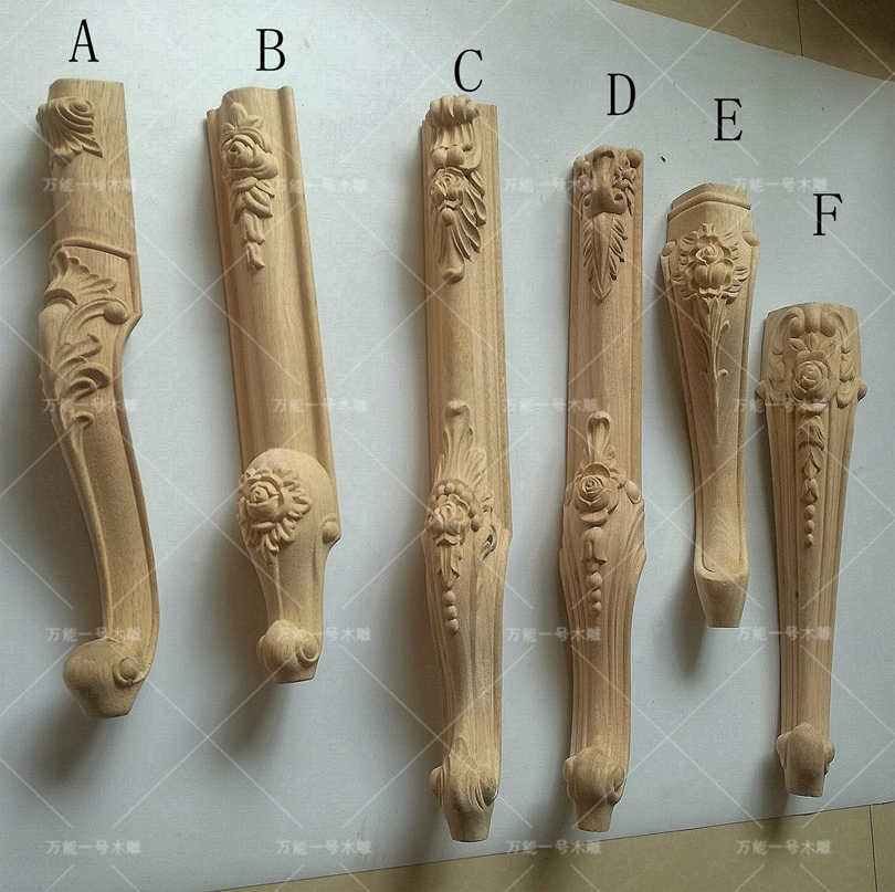 Wooden Sofa Table Legs With Recliner 4pcs/lot, European Carved Furniture ...