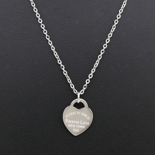Fashion Luxury Famous Brand Love T Necklace Women paragraph clavicle Tif Necklace Gold Peach Heart Pendant Necklace Fine Jewelry high quality love heart pendant fashion women casual luxury necklace 2019 new jewelry