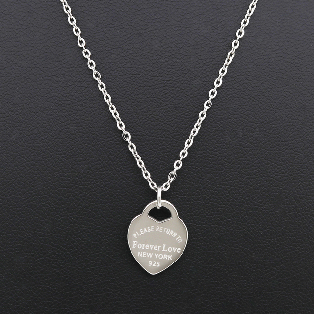 Fashion Luxury Famous Brand Love Necklace Women paragraph clavicle Necklace Gold