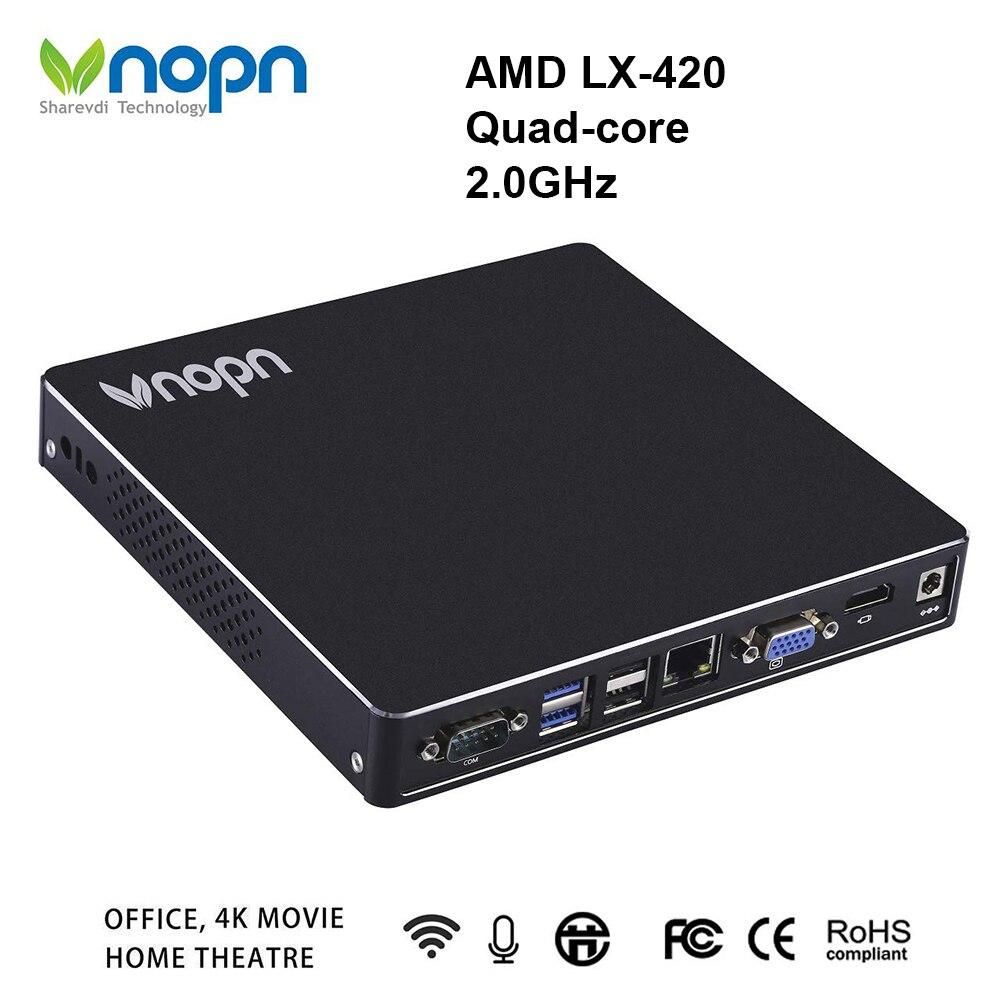 AMD LX-420 Quad-core 2.0 GHz Mini PC avec ventilateur Windows OS DDR3L 8G SSD 256G ordinateurs de bureau 1000 Mbps LAN 6 * USB2.0 2 * USB3.0 ordinateur de HD-MIAMD LX-420 Quad-core 2.0 GHz Mini PC avec ventilateur Windows OS DDR3L 8G SSD 256G ordinateurs de bureau 1000 Mbps LAN 6 * USB2.0 2 * USB3.0 ordinateur de HD-MI