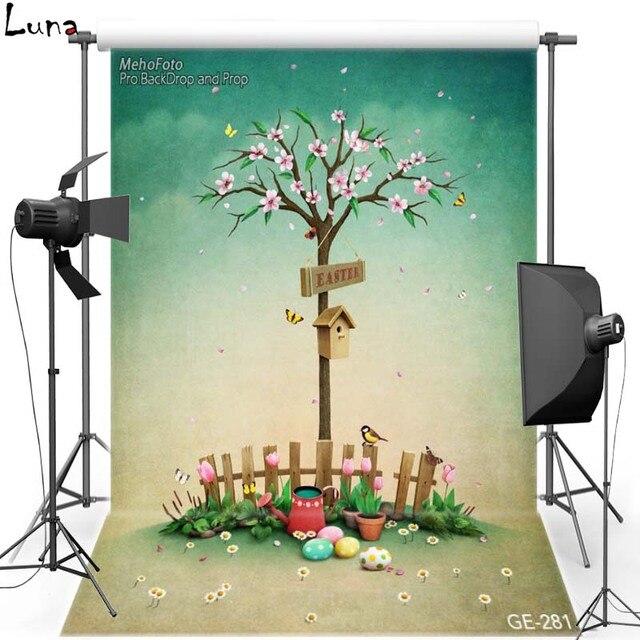 Счастливой Пасхи Цветок Винил Фотографии Фоном Для Детей Яйца Оксфорд Фон Для Новорожденного фотостудия Реквизит 281