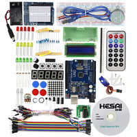 Starter Kit Step Motor Servo 1602 LCD Breadboard Jumper Wire UNO R3 For Arduino