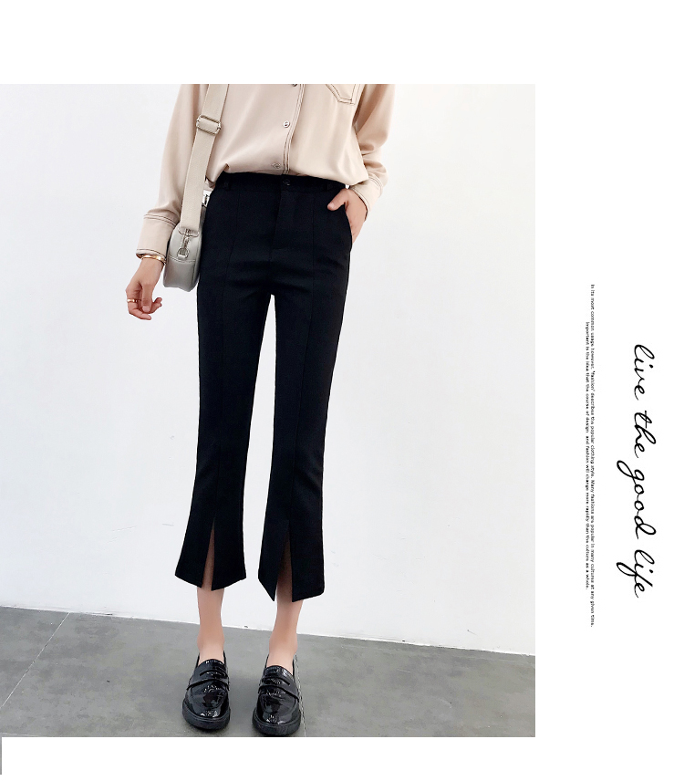 High-waisted Flare Pants Women 2018 Summer New Hot Fashion Female Casual Loose Ankle-length Pants Trousers Bottoms 10