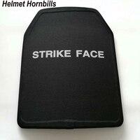ヘルメットhornbills 2ピース/ロット11 × 14インチuhmwpe nij iiia防弾パネル/nijレベル3aスタンドアローンボディ鎧弾道プレート