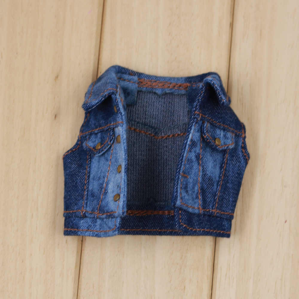Blyth doll Набор джинсов West джинсовая куртка Футболка носки и джинсы брюки костюм для 1/6 кукла