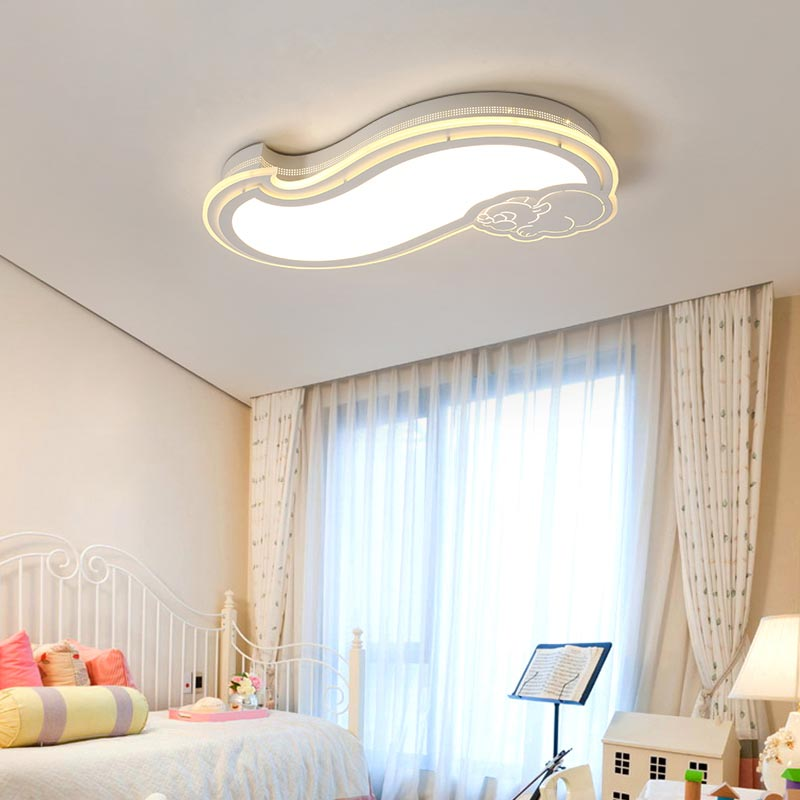 Led Ceiling Light With Remote Control Fixtures Modern Living Room Bedroom Children Kid Lamp Decor Home Lighting Animal Iron 220V modern remote control led lamp ceiling light fixture living room bedroom christmas decoration for home lighting white metal 220v