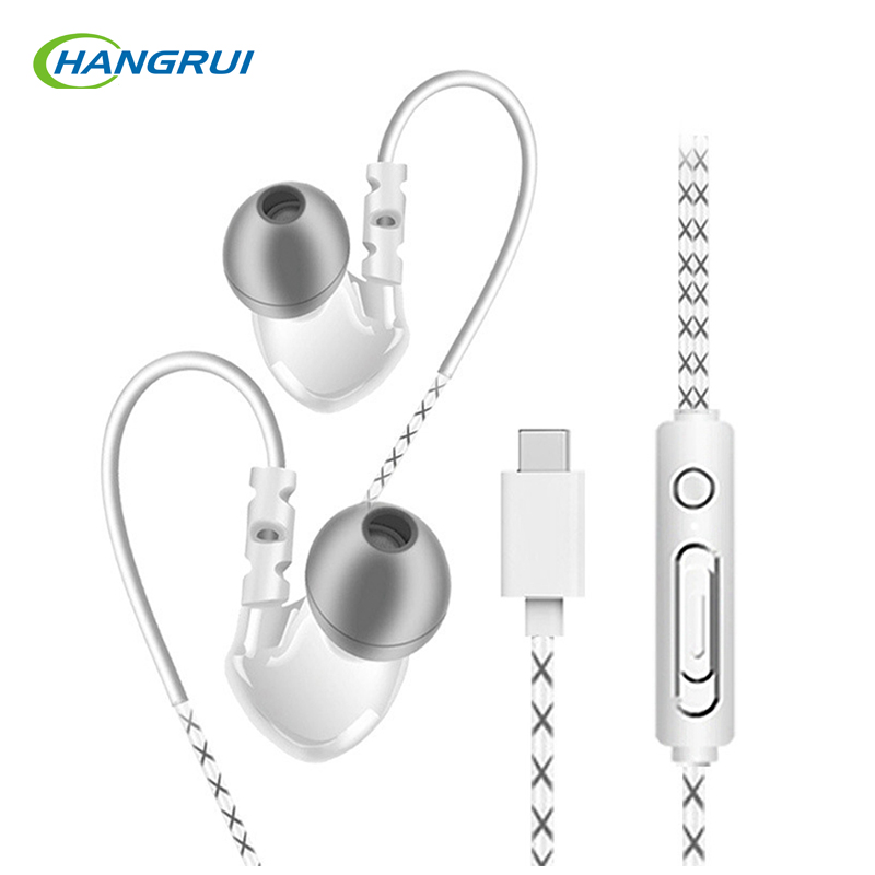 New C Type Earphone wire with mic for phone type-c earphones for Letv 2 Letv 2pro Letv max2 hifi music earbuds Mobile phone