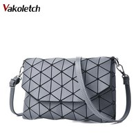 2018 Matte Designer Women Evening Bag Shoulder Bags Girls Flap Handbag Fashion Geometric Casual Clutch Messenger