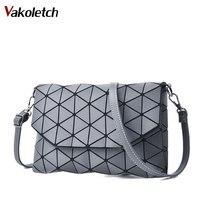 2018 Matte Designer Women Evening Bag Shoulder Bags Girls Flap Handbag Fashion Geometric Casual Clutch Messenger