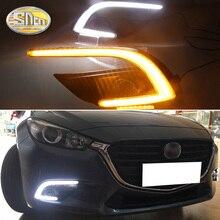 SNCN 2 шт. светодиодный дневного света для Mazda 3 2017 2018 автомобильные аксессуары Водонепроницаемый ABS 12 В DRL Дневной свет туман лампы, украшения