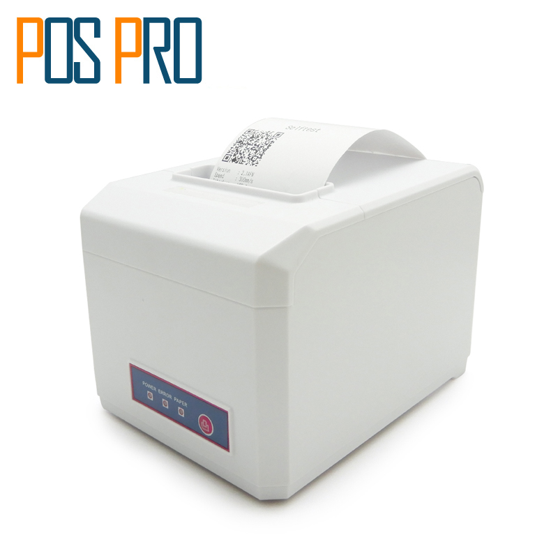 ITPP056 White Color 80mm Thermal Receipt POS Printer 300/m Auto Cutter USB/Serial/Wifi/Ethernet/GPRS/Bluetooth port Windows 7/8/