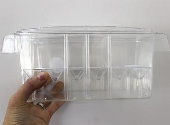 L M S rozmiary 3 w 1 pudełka do hodowli ryb wylęgowych inkubator izolacja akrylowe akwarium zbiorniki trwałe Betta Fish Tank AT001 tanie i dobre opinie SEVEN MASTER 0 2kg 0 4kg Ryby Miski S M L Z tworzywa sztucznego