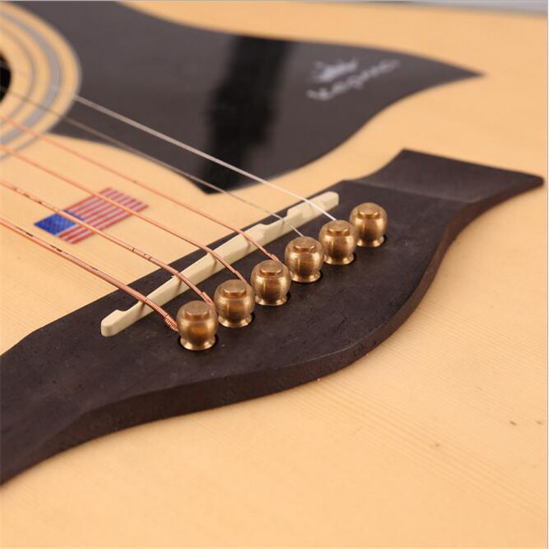 6pcs pure copper guitar strings pegs folk acoustic guitar bridge pin guitarra strings peg string. Black Bedroom Furniture Sets. Home Design Ideas