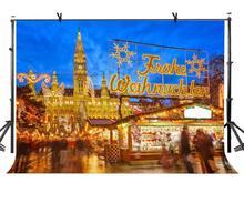 7x5ft Market Backdrop Brilliantly Illuminated European Bazaar Photography Background and Studio Props