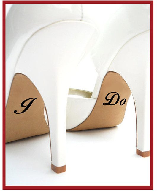 ce2b17883ad9 I do and Me Too Wedding Shoe Decal   Wedding Shoe Sticker   Personalized  Wedding Decal