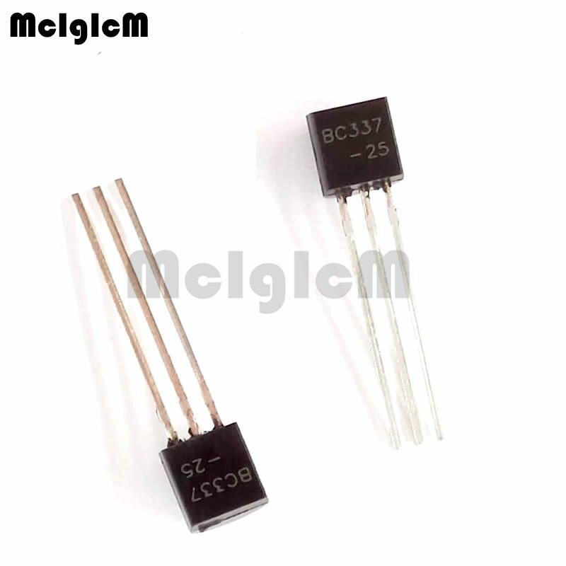 MCIGICM 100pcs BC337 In-line Triode Transistor TO-92 0.8A 45V NPN