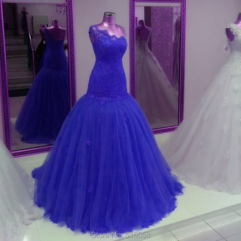 Red Fuchsia Green Royal Blue Wedding Dresses