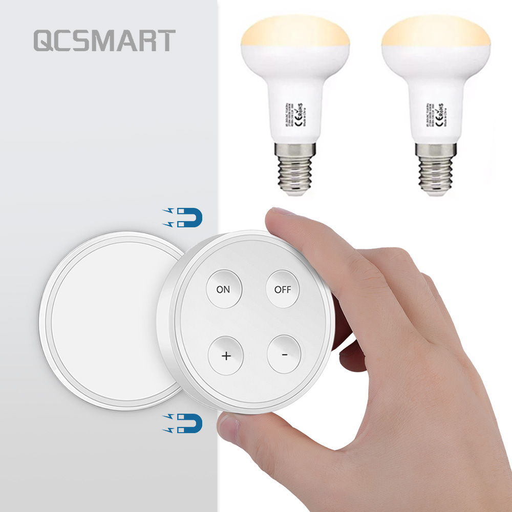 E14 Wireless Dimmer Light Kit 1 Magnetic Remote Control 2 E14 LED Bulb 3 Color Temperature(2700K/4000K/6000K) Dimmable