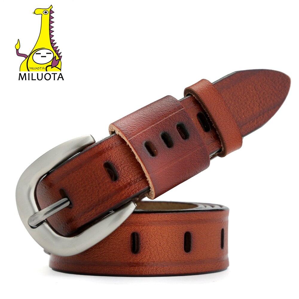 [MILUOTA] Fashion   Belts   for Women Vintage Strap Designer Genuine Leather Women   Belt   cinturones mujer MU031