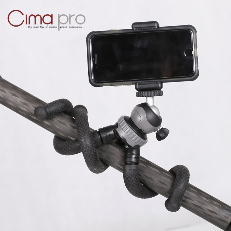Image 2 - Cima pro RM 30 Travel Outdoor Mini Bracket Stand Octopus Tripod flexible tripe For phone Digital Camera GoPro-in Live Tripods from Consumer Electronics