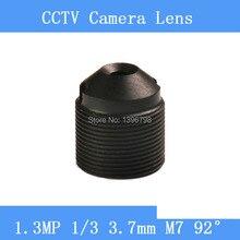 CCTV lenses 1.3MP 1/3 HD 3.7mm pinhole surveillance camera 97 degrees infrared M7 lens thread