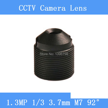 CCTV lenses 1.3MP 1/3 HD 3.7mm pinhole surveillance camera 97 degrees infrared M7 lens thread