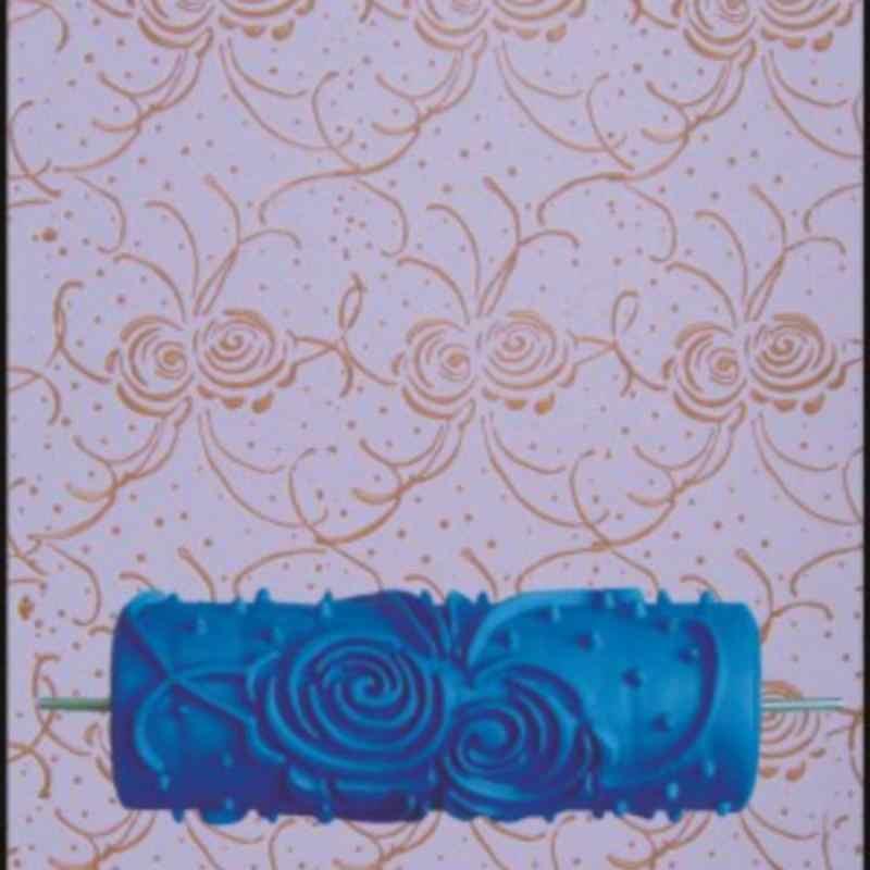 In rilievo Rullo di Vernice FAI DA TE Rullo di Gomma Del Manicotto Struttura Della Parete Stencil Pennello Modello di Arte Della Parete Della Pittura A Casa Decoretion Accessori