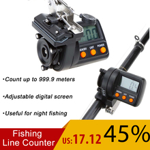 999.9m Digital Display Fishing Line Counter for Electronic line Depth Finder counter feeder fishing tackle