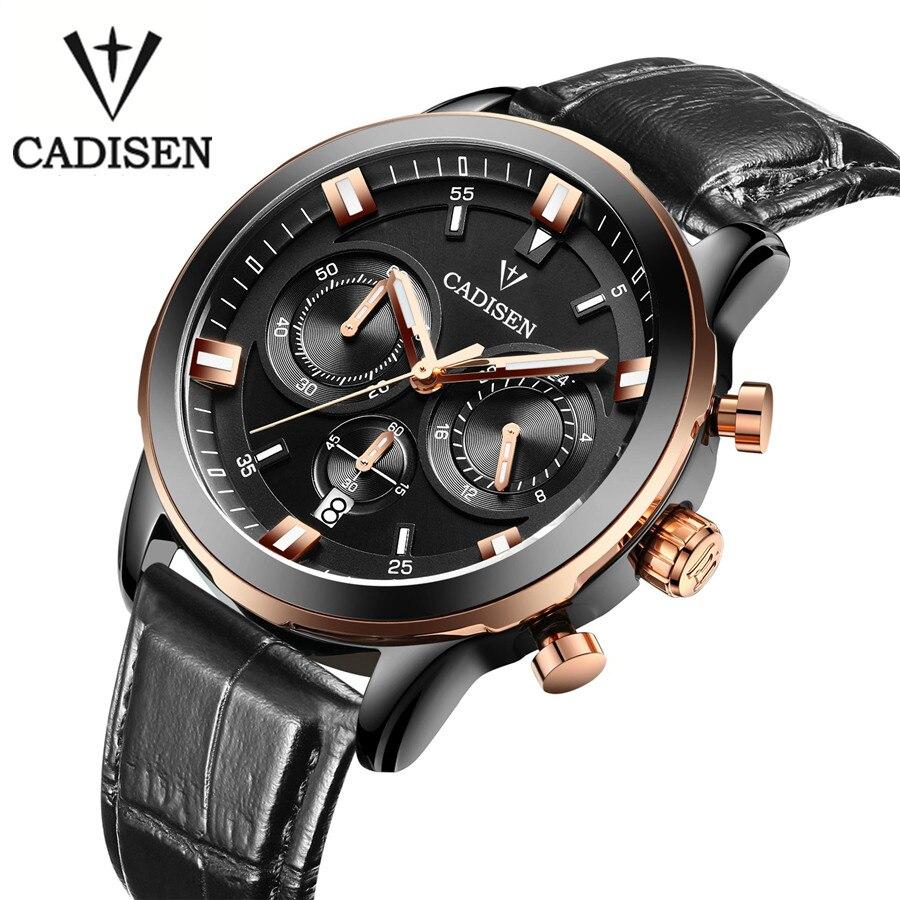 Cadisen 2016 Mens Watches Top Brand Luxury Calendar 3 *