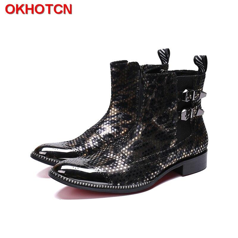 Обувь на теплом меху Мужские зимние сапоги с двойной пряжкой мужские зимние сапоги металлическая молния острый носок сапоги Для мужчин Раб