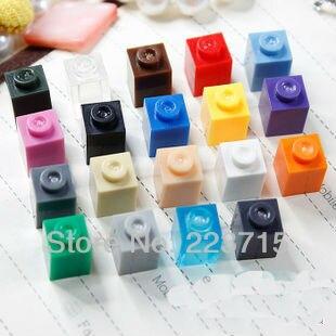 Free Shipping!3005 100pcs*Brick 1x1* DIY Enlighten Block Bricks,Compatible With Assembles Particles