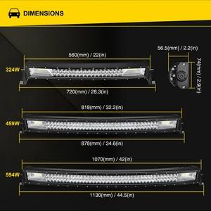 Image 5 - LED Bar for UAZ 4x4 offroad 22 32 42 inch LED Light Bar 324w 459w 594w Spotlight LED Beam 12V 24V fog headlights LED Work light