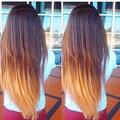 Pelo Brasileño Ombre T1B/4/27 Pelo Brasileño Recto 3 bundles Bruto Brasileño de la Virgen Del Pelo Recto Ombre Humano Armadura del pelo